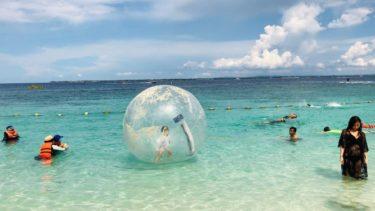 子供でも楽しめるマリンアクティビティ「グラスボトムボート&ウォーターボール」に初挑戦(マクタン島3日目)