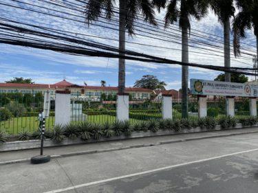 ドゥマゲテのプールがある学校「セントポール」ST.PAUL UNIVERSITY DUMAGUETE