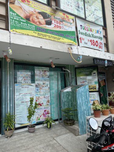 火曜日は全身オイルマッサージ60分180ペソ「Bamboo Sparadise Massage」