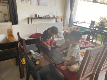 2歳Ryuta遊びの中で英語を吸収中!!(ドゥマゲテ親子留学)