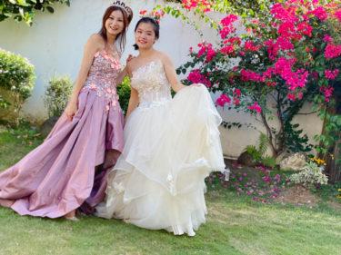 フィリピン ドゥマゲテの貸スタジオでドレス撮影会