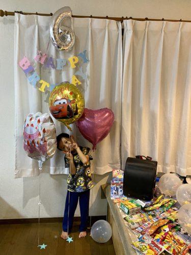 Sota 6歳の誕生日は日本でお祝い